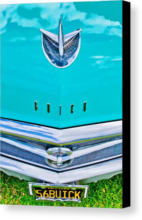 Blue Buick Canvas Print featuring the photograph Buick Grill by Phil 'motography' Clark