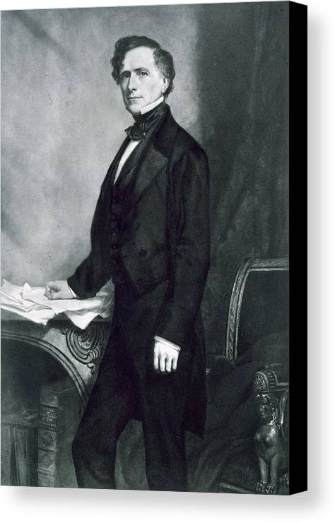 Franklin Pierce Canvas Print featuring the painting Franklin Pierce by George Healy