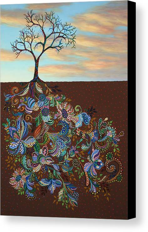 Tree Canvas Print featuring the painting Neither Praise Nor Disgrace by James W Johnson