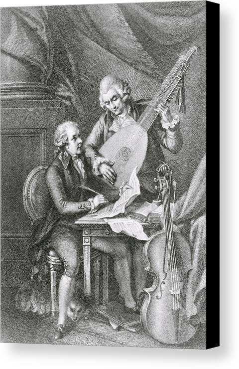 Sheet Canvas Print featuring the drawing Portrait Of Franz Joseph Haydn by John Francis Rigaud