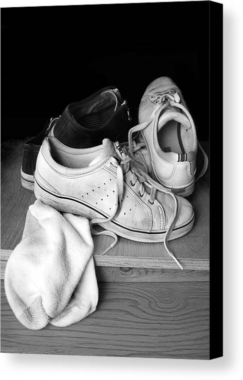 Tennis Canvas Print featuring the photograph Worn by Marcia Colelli