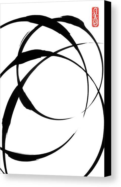 Zen Canvas Print featuring the painting Zen Circles 4 by Hakon Soreide