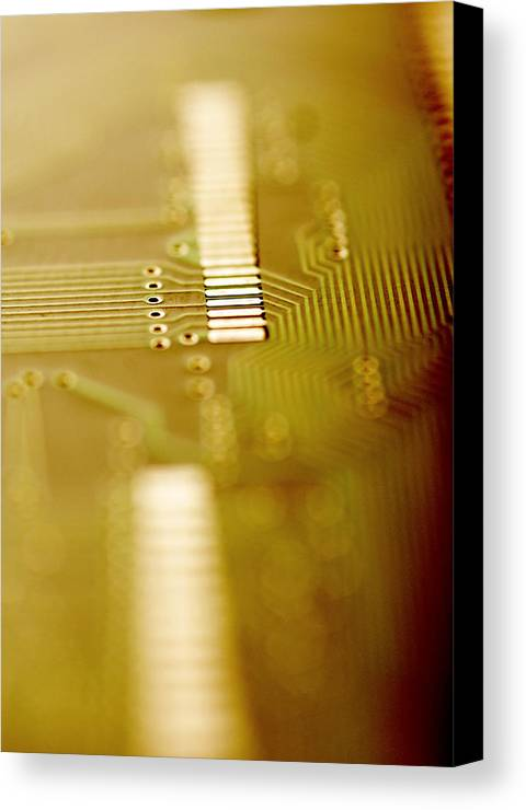 Component Canvas Print featuring the photograph Computer Circuit Board by Tim Vernonlth Nhs Trust