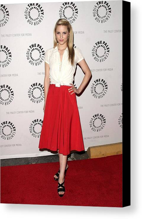 Dianna Agron Canvas Print featuring the photograph Dianna Agron At Arrivals For Glee by Everett