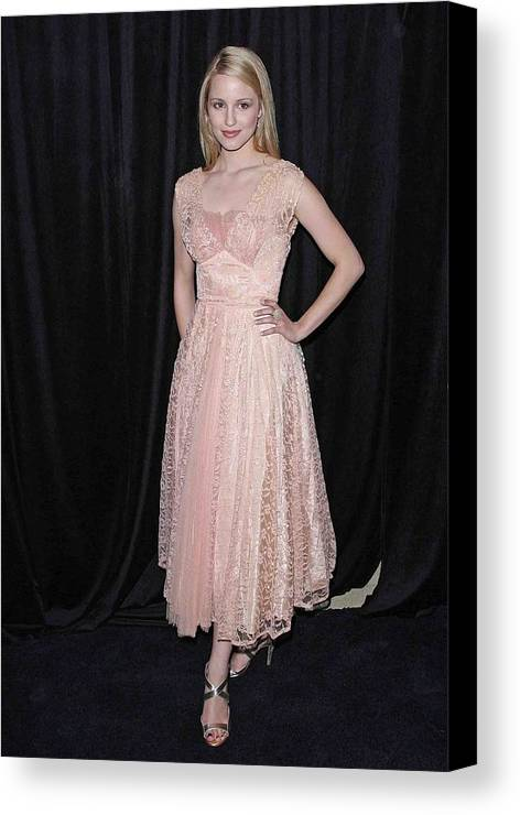 Dianna Agron Canvas Print featuring the photograph Dianna Agron In Attendance For The 9th by Everett