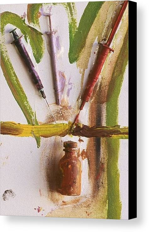 Fine Art Canvas Print featuring the mixed media Untitled by Iris Gill