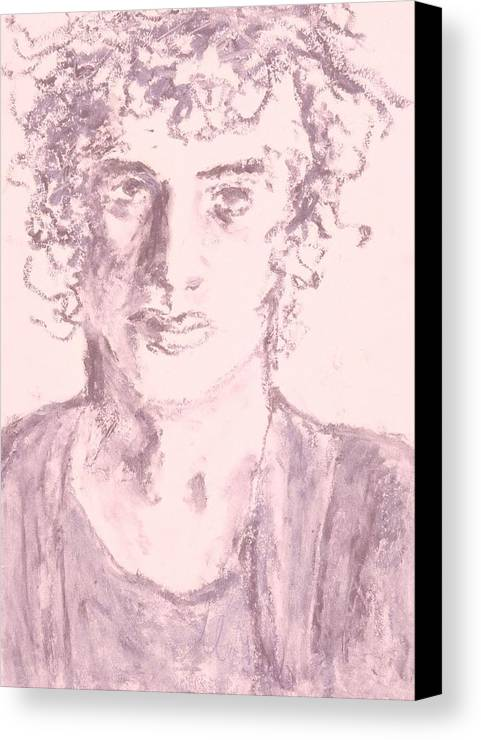 Fine Art Canvas Print featuring the drawing Captive by Iris Gill