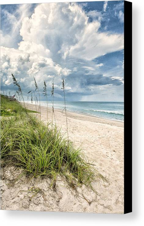 Clouds Canvas Print featuring the photograph Clouds Over The Ocean by Cheryl Davis