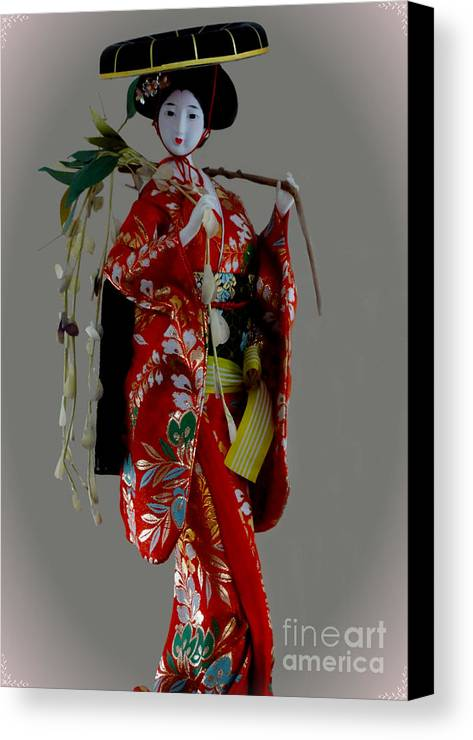 Al Bourassa Canvas Print featuring the photograph Geisha Elegance by Al Bourassa