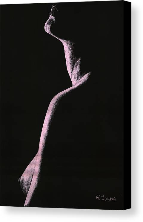 Nude Canvas Print featuring the pastel Arrogance by Richard Young