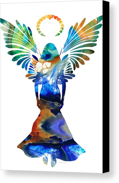 Guardian Canvas Print featuring the painting Healing Angel - Spiritual Art Painting by Sharon Cummings