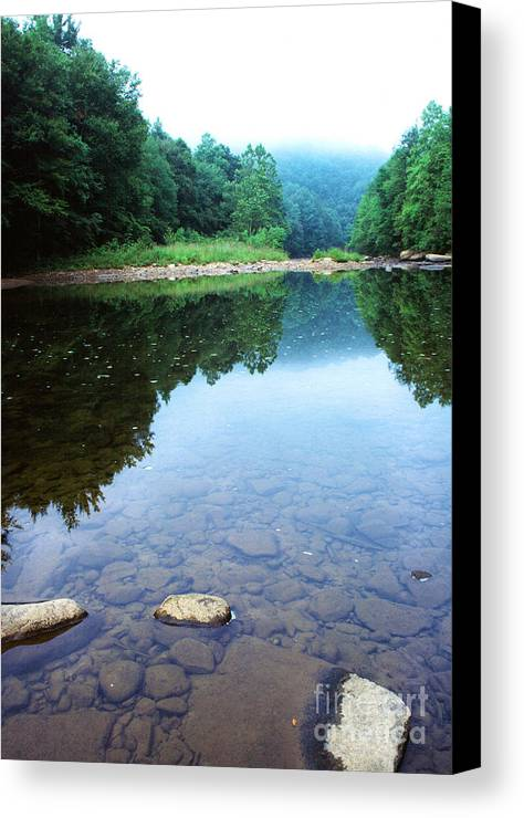 Williams River Canvas Print featuring the photograph Late Summer At The Baptizing Hole by Thomas R Fletcher