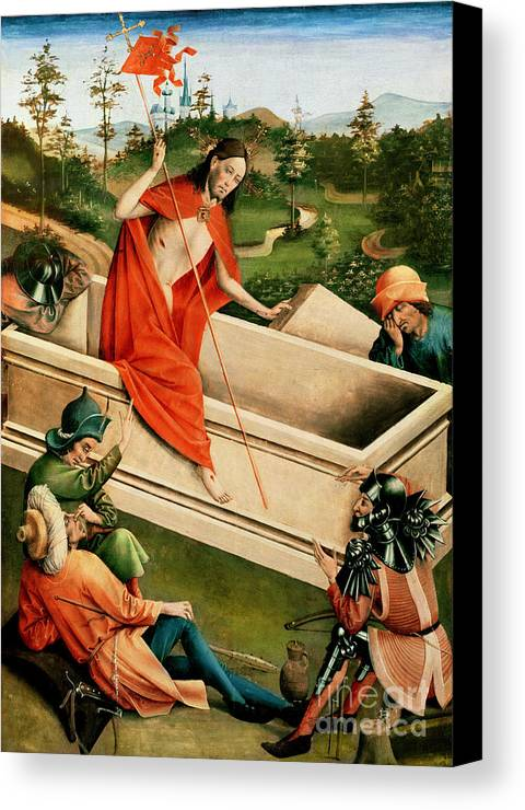 The Canvas Print featuring the painting The Resurrection by Johann Koerbecke