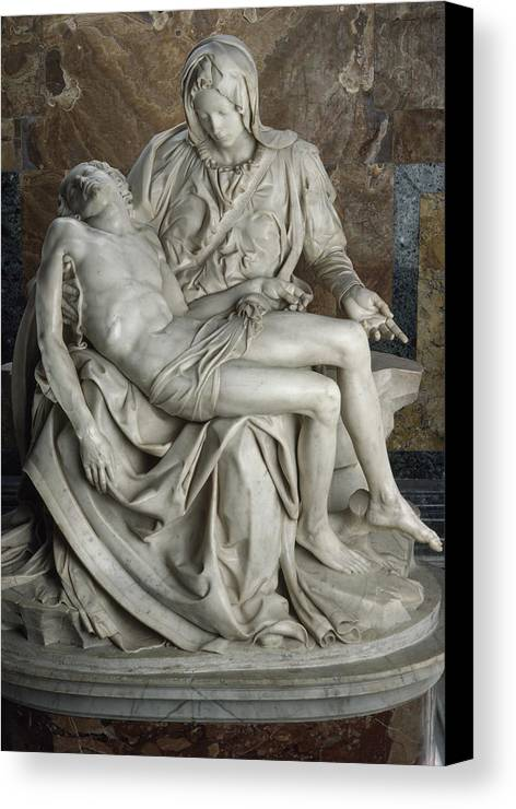 Europe Canvas Print featuring the photograph View Of Michelangelos Famous Sculpture by James L. Stanfield