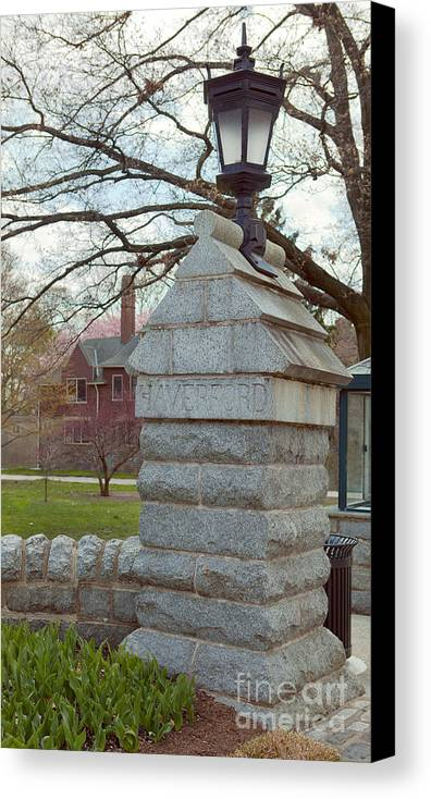 Haverford College Canvas Print featuring the photograph Haverford College Entrance by Kay Pickens