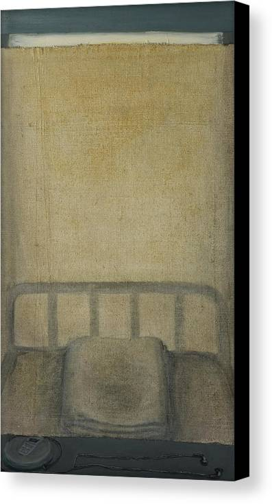 Bed Canvas Print featuring the painting Insomnia - Lying On The Back by Oni Kerrtu