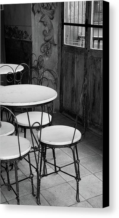 Vertical Canvas Print featuring the photograph Old Ice Cream Parlor by Maryann Flick