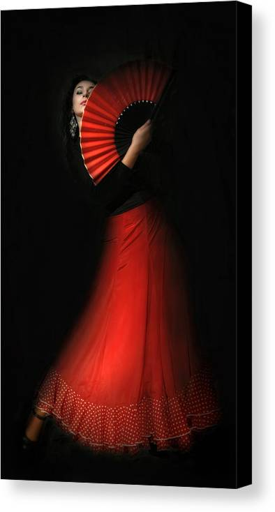 Canvas Print featuring the photograph Flamenco by Viktor Korostynski