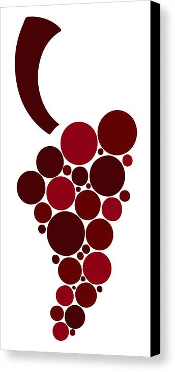 Wine Canvas Print featuring the painting Wine Grape by Frank Tschakert