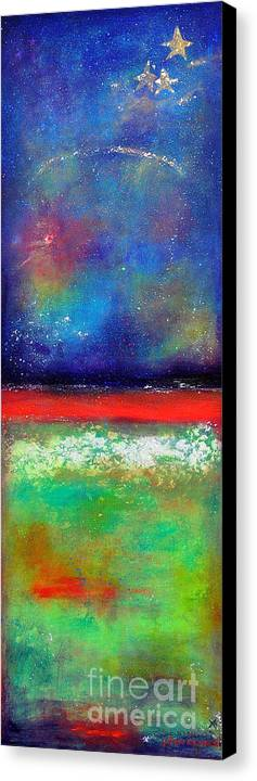 Emergence Canvas Print featuring the painting Emergence by Johane Amirault