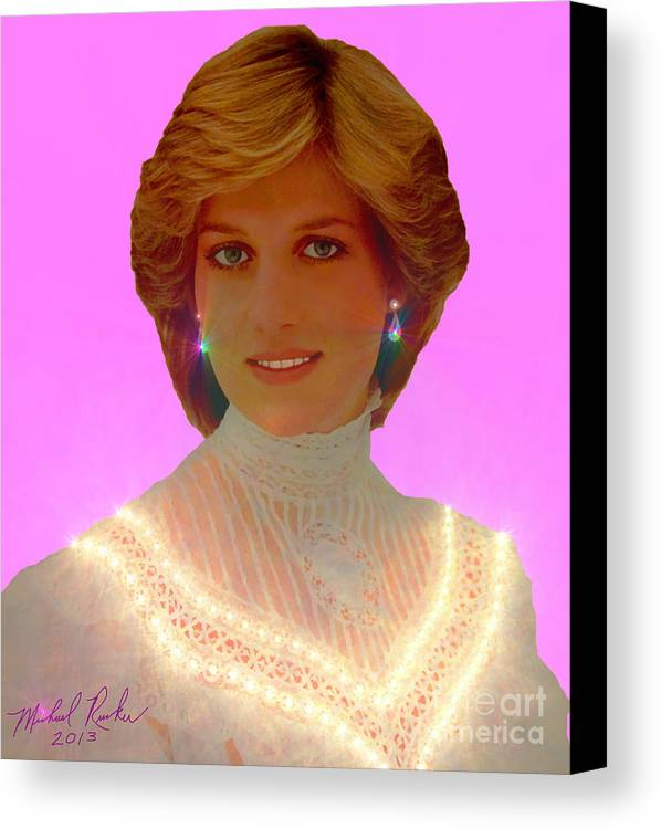 Princess Diana Canvas Print featuring the photograph Princess Diana by Michael Rucker