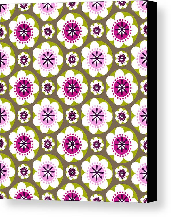 Posters Canvas Print featuring the digital art Daisy's Flower Garden by Lisa Noneman