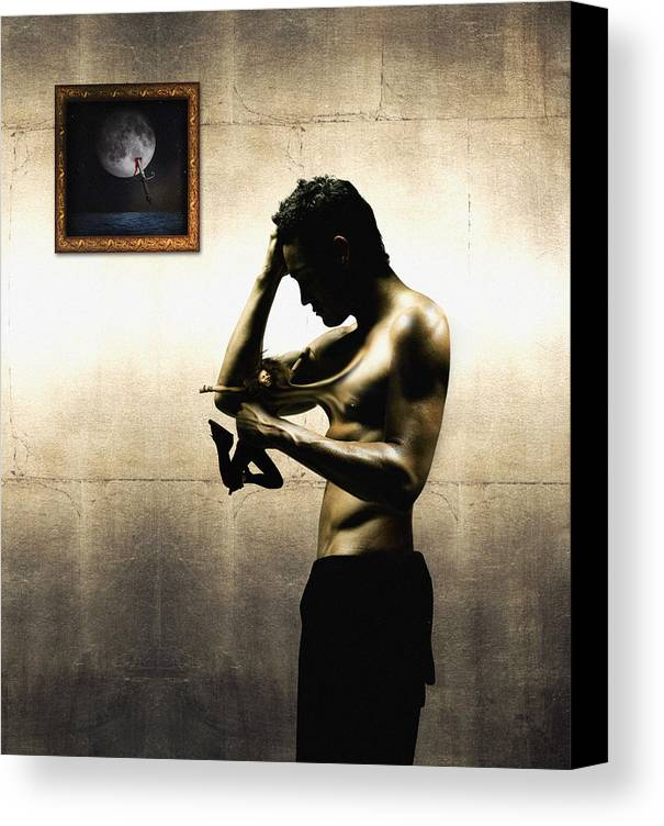 People Canvas Print featuring the digital art Divide Et Pati - Divide And Suffer by Alessandro Della Pietra