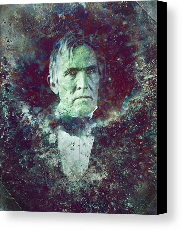 Daguerrotype Canvas Print featuring the painting Strange Fellow 2 by James W Johnson