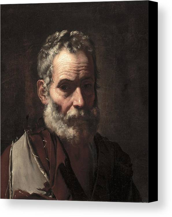 Old Canvas Print featuring the painting An Old Man by Jusepe de Ribera