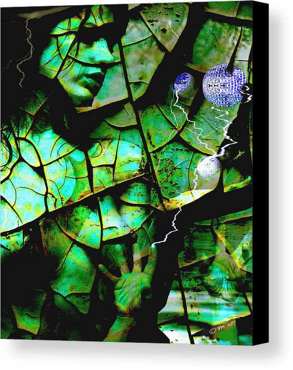 Mother Earth Canvas Print featuring the digital art Mother Earth by Yvon van der Wijk