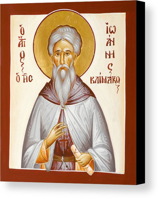 St John Climacus Canvas Print featuring the painting St John Climacus by Julia Bridget Hayes