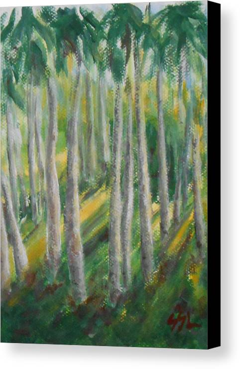 Landscape Canvas Print featuring the painting Tropical by Jane See