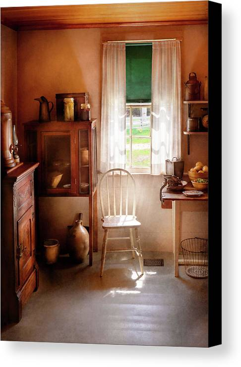 Hdr Canvas Print featuring the photograph Kitchen - A Cottage Kitchen by Mike Savad