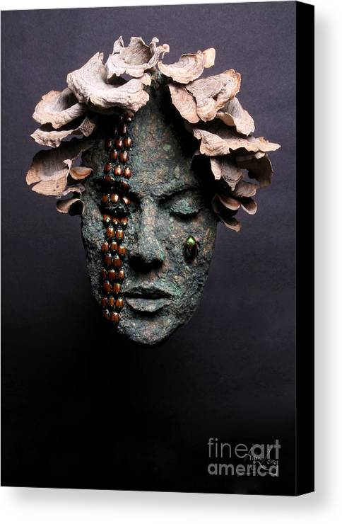 Art Canvas Print featuring the relief Lorelei by Adam Long