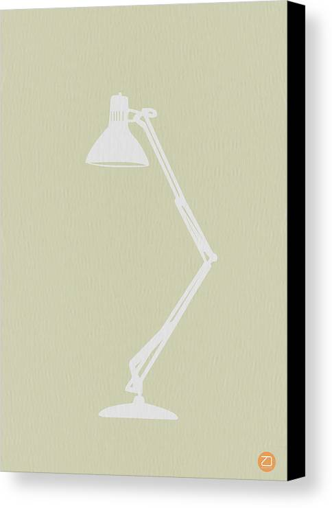 Lamp Canvas Print featuring the drawing Desk Lamp by Naxart Studio