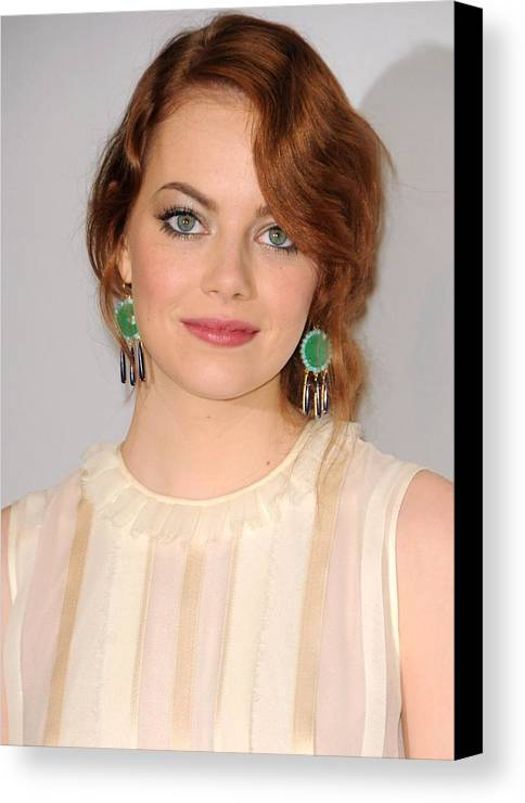 Emma Stone Canvas Print featuring the photograph Emma Stone Wearing Irene Neuwirth by Everett