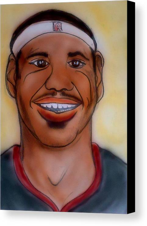 Lebron James Canvas Print featuring the painting Lebron James by Pete Maier