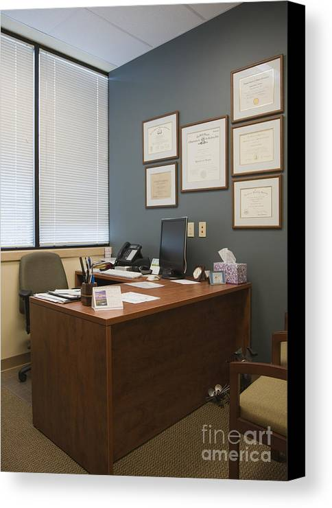 Architectural Detail Canvas Print featuring the photograph Office Space by Andersen Ross
