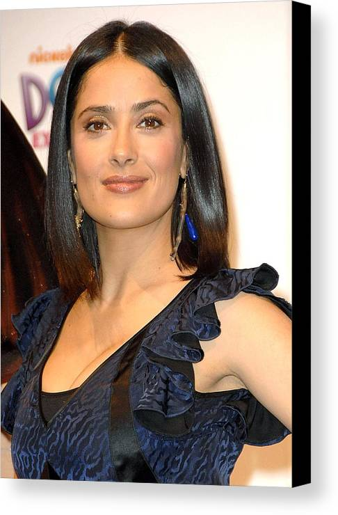 Salma Hayek Canvas Print featuring the photograph Salma Hayek At A Public Appearance by Everett