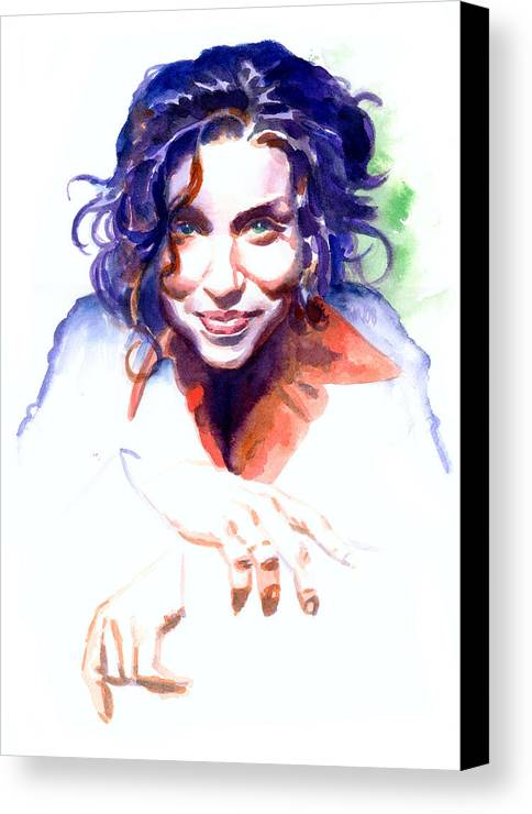 Ani Difranco Canvas Print featuring the painting Ani Difranco by Ken Meyer jr