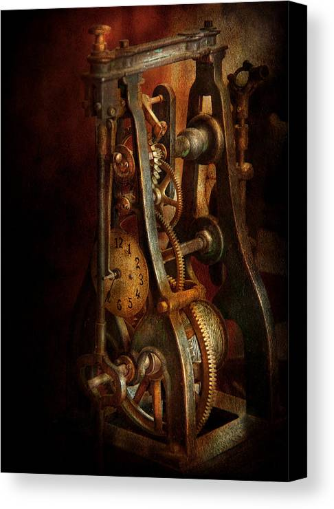 Hdr Canvas Print featuring the photograph Clockmaker - Careful I Bite by Mike Savad