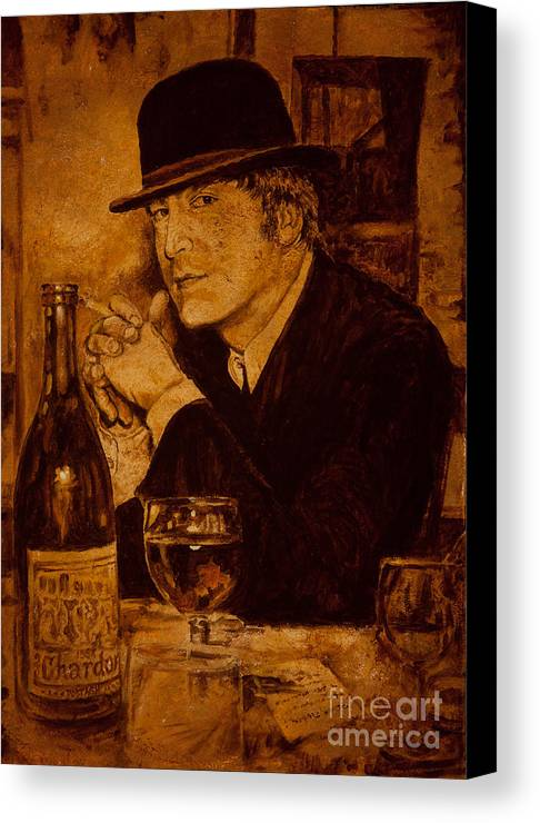 John Lennon Canvas Print featuring the painting Liverpool 1963. In The Pub by Igor Postash