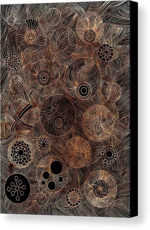Frank Tschakert Canvas Print featuring the painting Organic Forms by Frank Tschakert