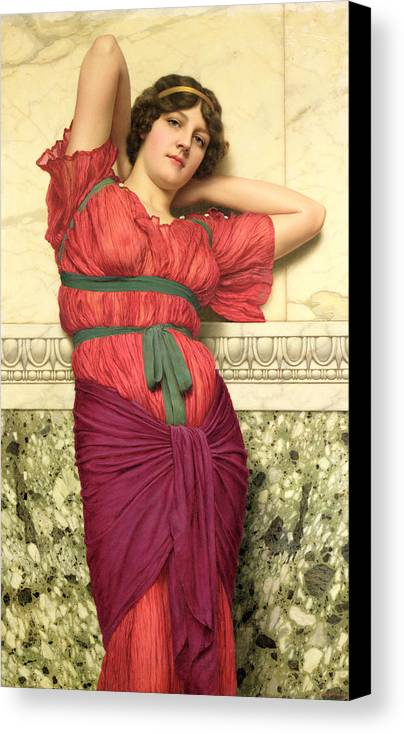 Contemplation Canvas Print featuring the painting Contemplation by John William Godward