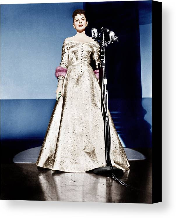 1950s Portraits Canvas Print featuring the photograph A Star Is Born, Judy Garland, 1954 by Everett