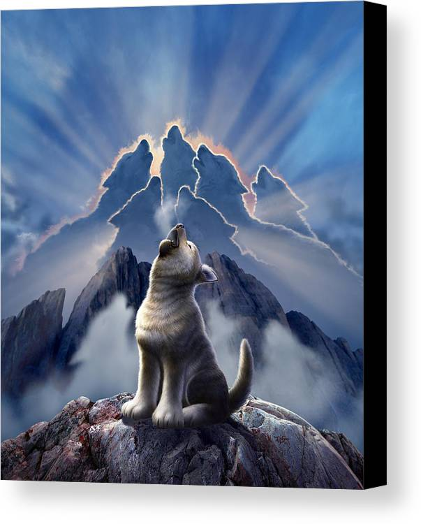 Wolf Canvas Print featuring the digital art Leader Of The Pack by Jerry LoFaro