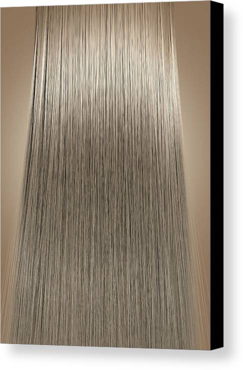 Blonde Canvas Print featuring the digital art Blonde Hair Perfect Straight by Allan Swart