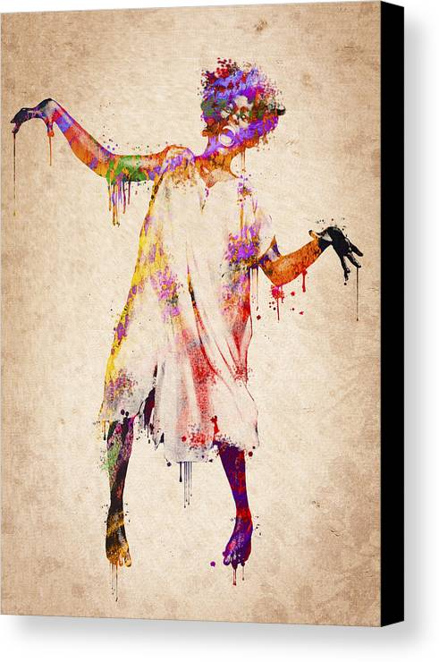Crazy Canvas Print featuring the digital art I Am Going Crazy by Aged Pixel
