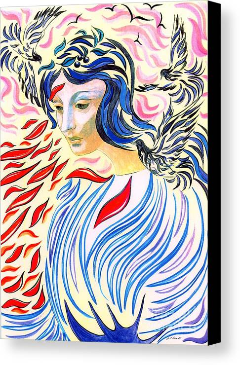 Mystical Canvas Print featuring the painting Inner Peace by Jane Small