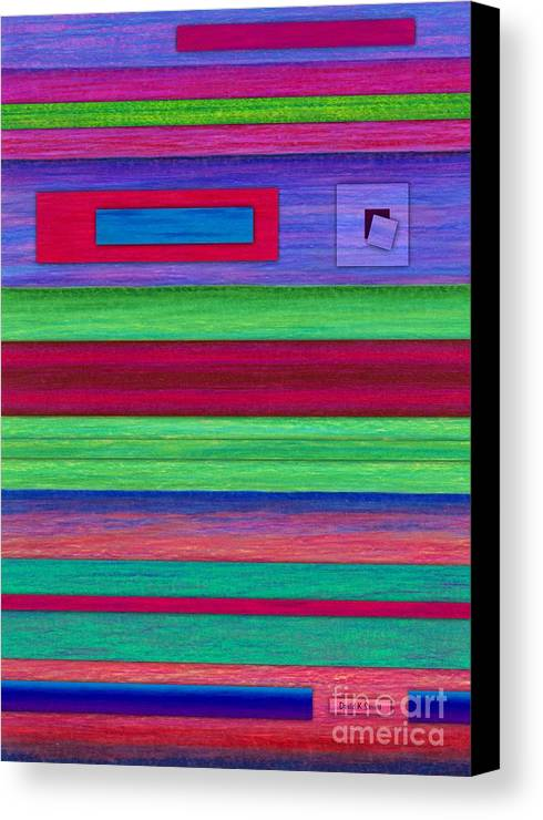 Colored Pencil Canvas Print featuring the painting Merger by David K Small